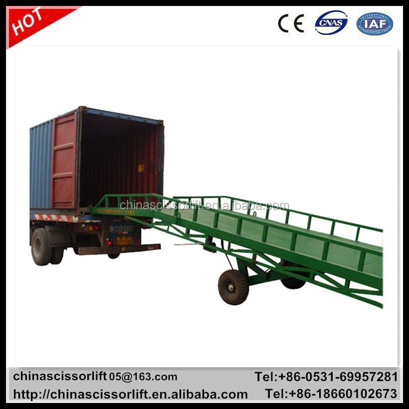 6 ton mobile yard ramp, container unloading loading platform