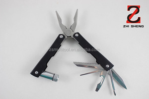 MP-217 stainless steel multifunctional plier, combination plier with LED light