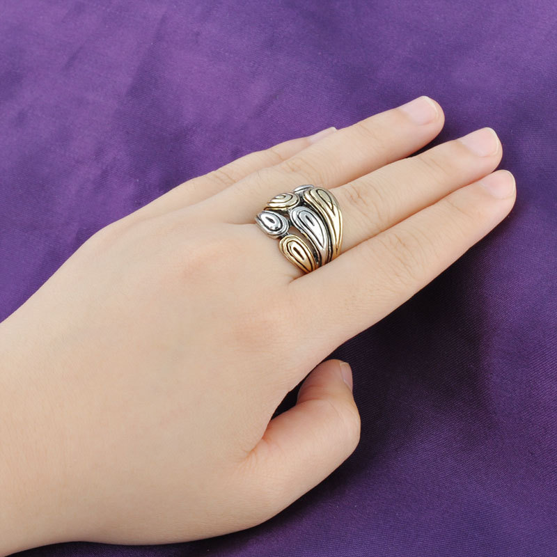 Individualized style design finger ring without stone new gold ...