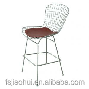 cheap outdoor metal armless stacking chair modern replica Harry Bertoia wire chair