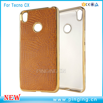 more photos 76825 83861 Luxury Pu Skin Pattern Groove Plating Tpu Bumper Back Cover For Tecno Camon  Cx - Buy Back Cover For Tecno Camon Cx,Plating Tpu Bumper For Condor ...
