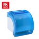 Custom smooth blue plastic toilet paper roll holder with phone/cigarette/key