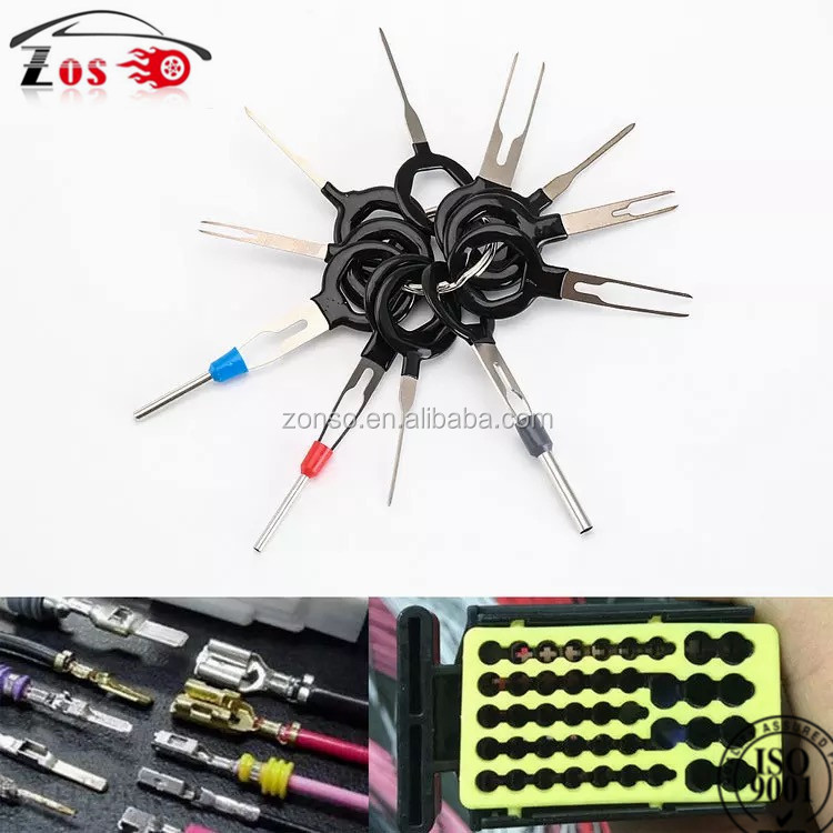 11pcs Auto Car Plug Circuit Board Wire Harness Terminal Extractor Pick Connector Crimp Pin Back Needle Remove Tool