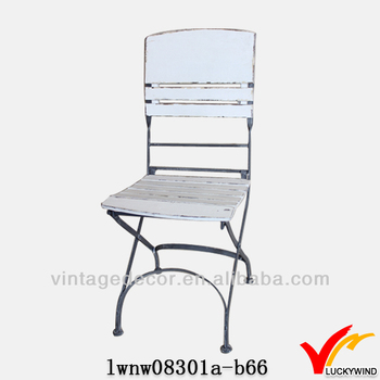 Beautiful Antique Shabby Style Wooden Cheap Folding Chairs