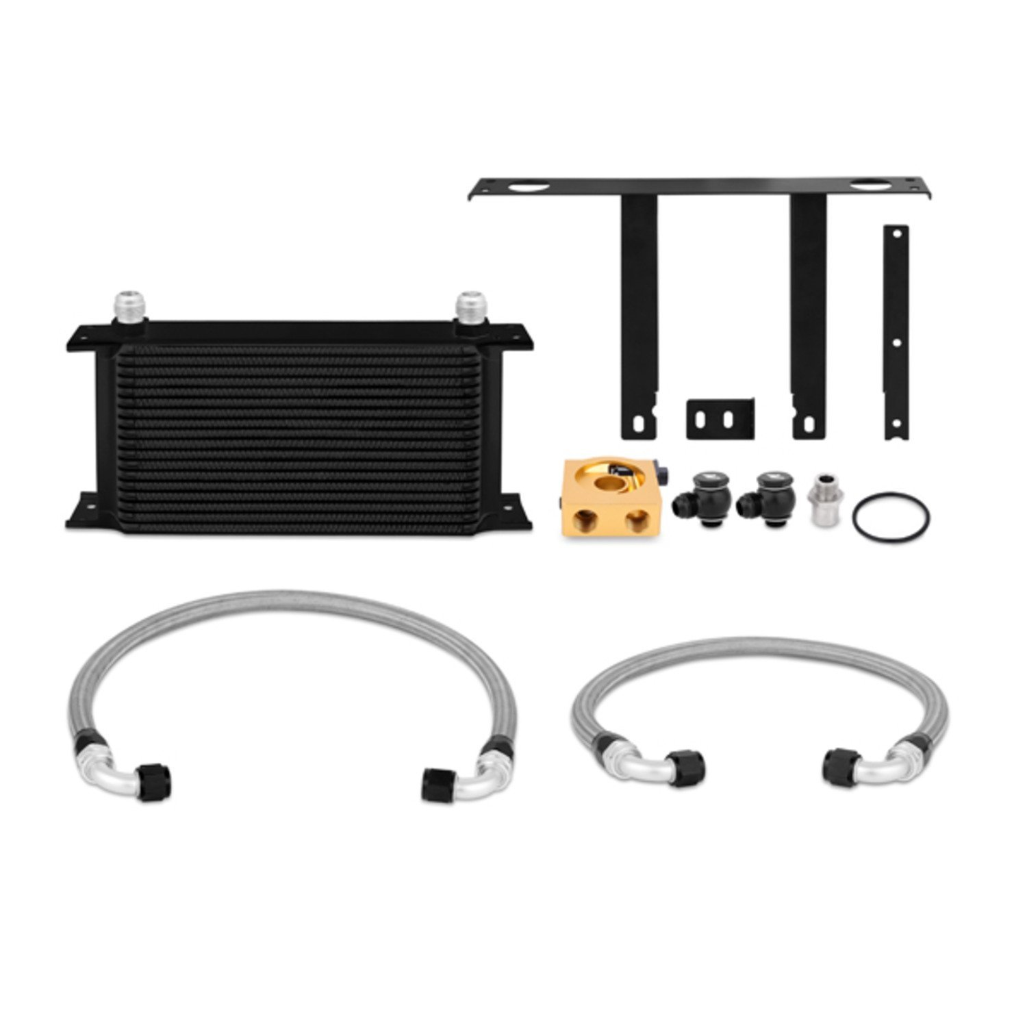 Mishimoto (MMOC-GEN4-10TBK) Black Thermostatic Oil Cooler Kit for Hyundai Genesis Coupe