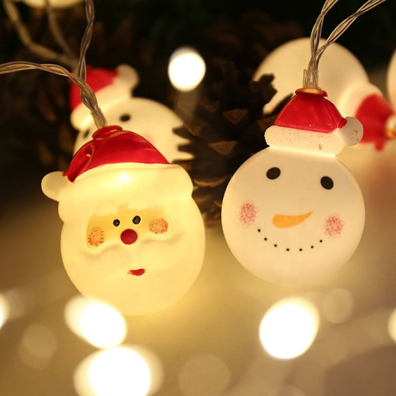 2019 hot sale outdoor waterproof snowman shape christmas holiday patio garden decorations copper string light