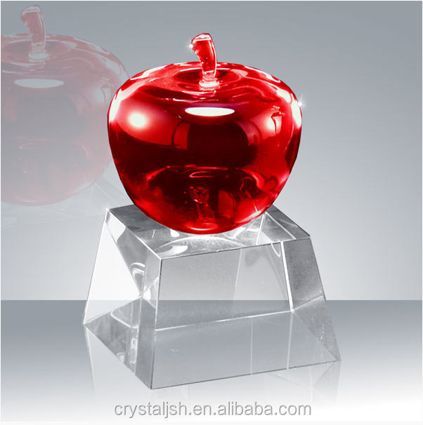 Beautiful creative awards for kids red crystal apple awards