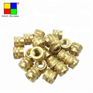 M5 & M6 Brass Threaded Inserts High Precision Hex And Knurled Inserts