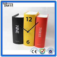 Funny book shape decorative book clock/Funny polyresin desk book clock/wholesale digital table book clock