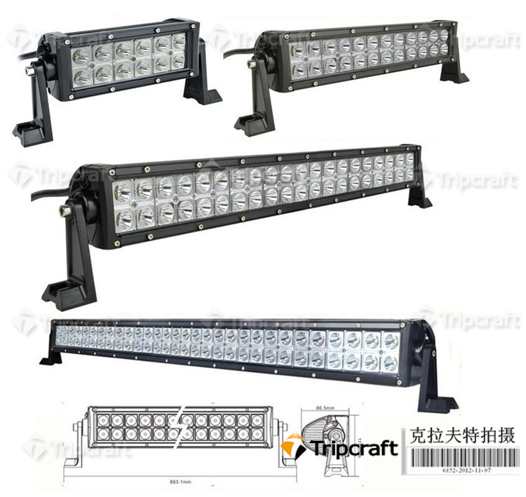 IP67 Wholesale 180w Straight double row Offroad LED Light Bars for ATV/UTV/4x4 vehicle