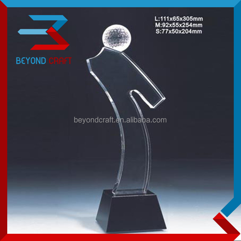 crystal golf sport trophy cup,crystal art trophy awards