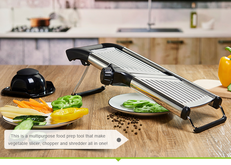 Kitchen adjustable stainless steel fruit vegetable mandolin slicer