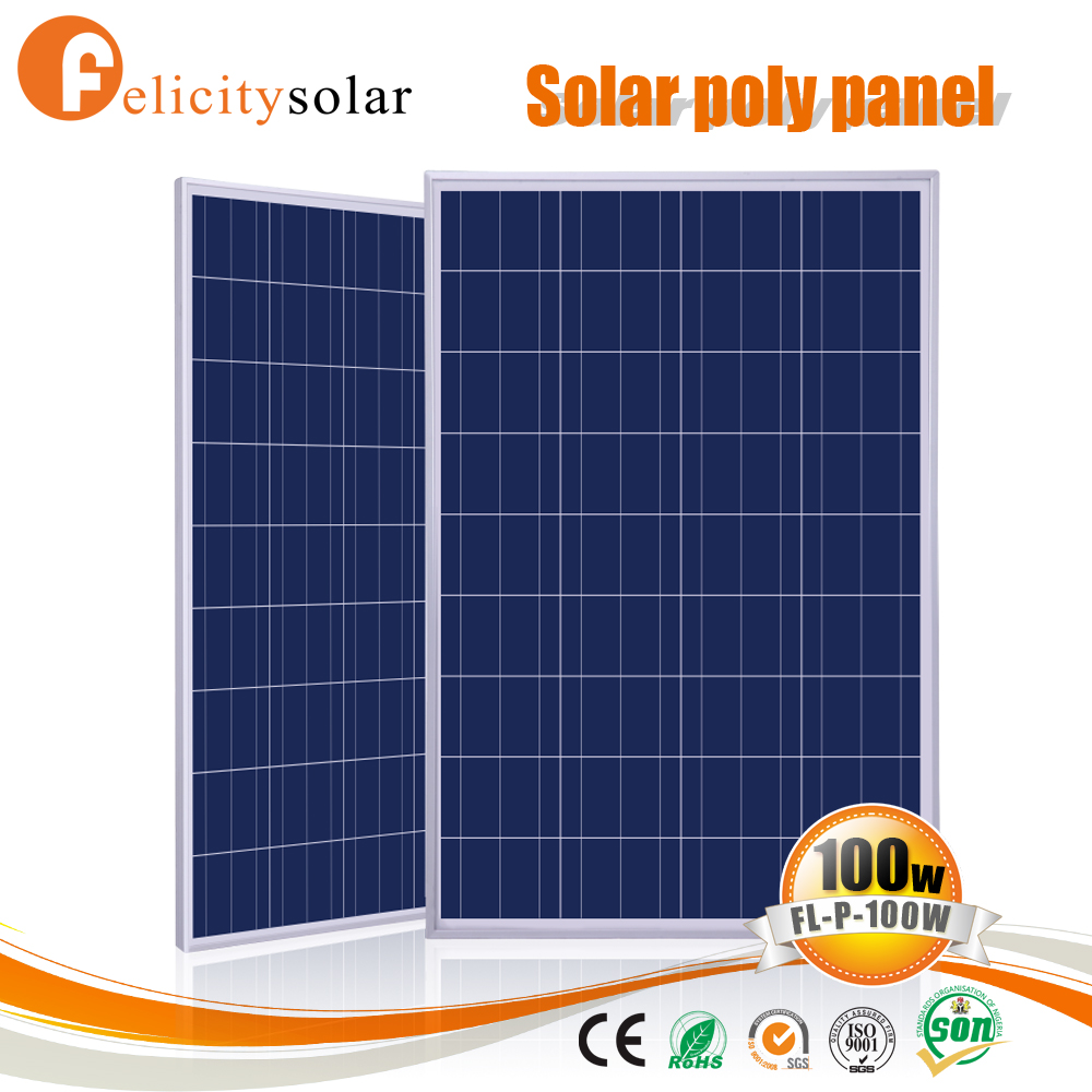 Conventional frame solar panel 100 for Algiers