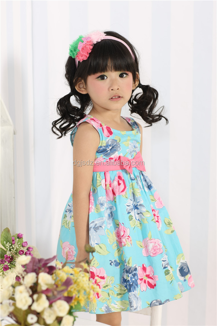 Smocked Children Clothing Wholesale Birthday Dress 2 Year
