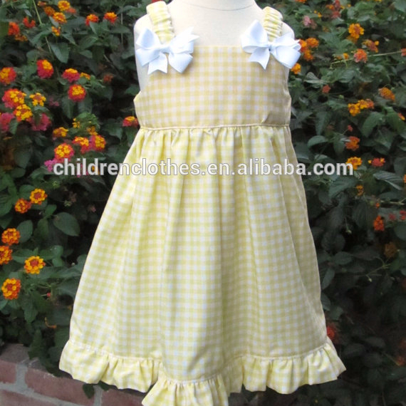 OEM boutique bow birthday infant clothes baby apparel frocks children dress