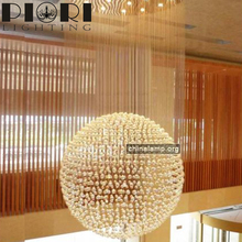 Cheap Home Decoration crystal and chrome chandelier for hotel
