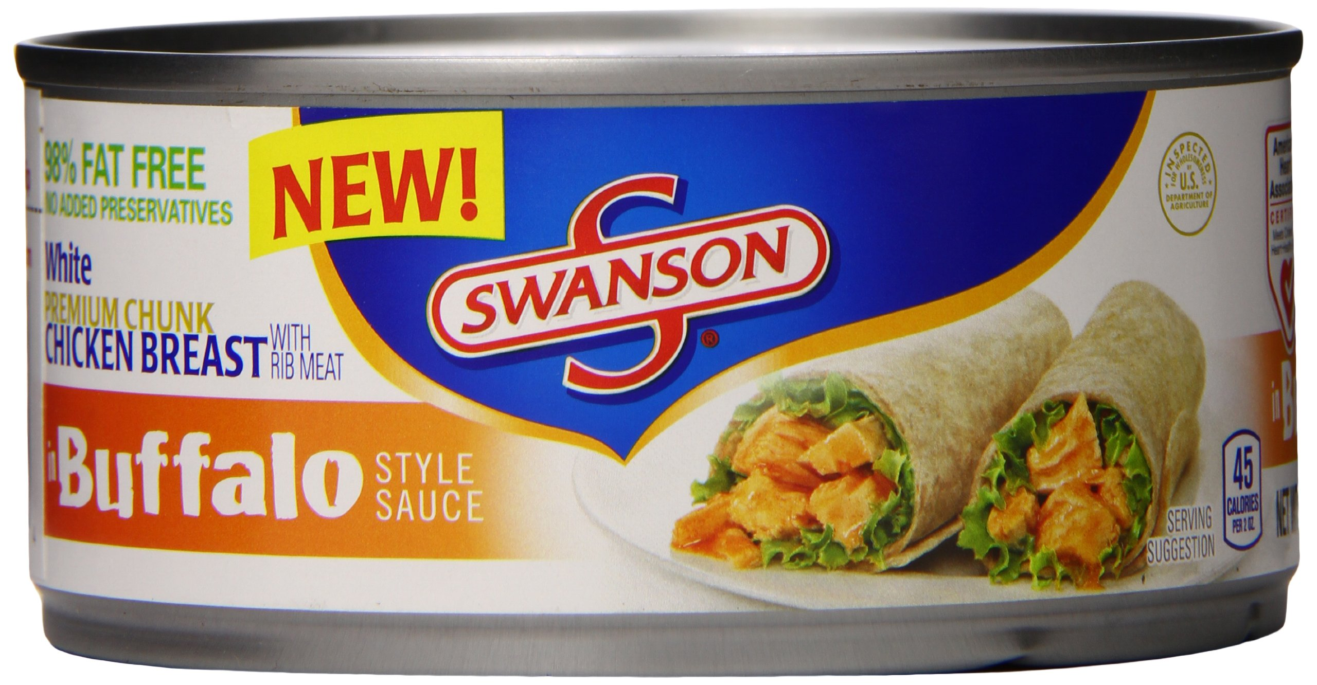 Swanson White Premium Chunk Chicken Breast, in Buffalo Style Sauce, 9.75 Ounce (Packaging May Vary)