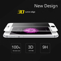 Wholesale Premium 3D Curved 9H Hardness 0.33mm Ultra Thin Anti-fingerprint Tempered Glass Screen Protector for Iphone 7/ 7plus