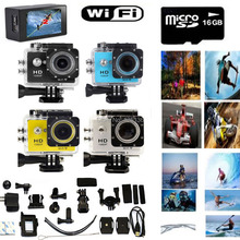 16GB SD Card + SJ6000 2.0″  LCD WIFI 1080P HD Sports Action camera DVR Video Waterproof Camera DV Diving W9 Swim /Charger