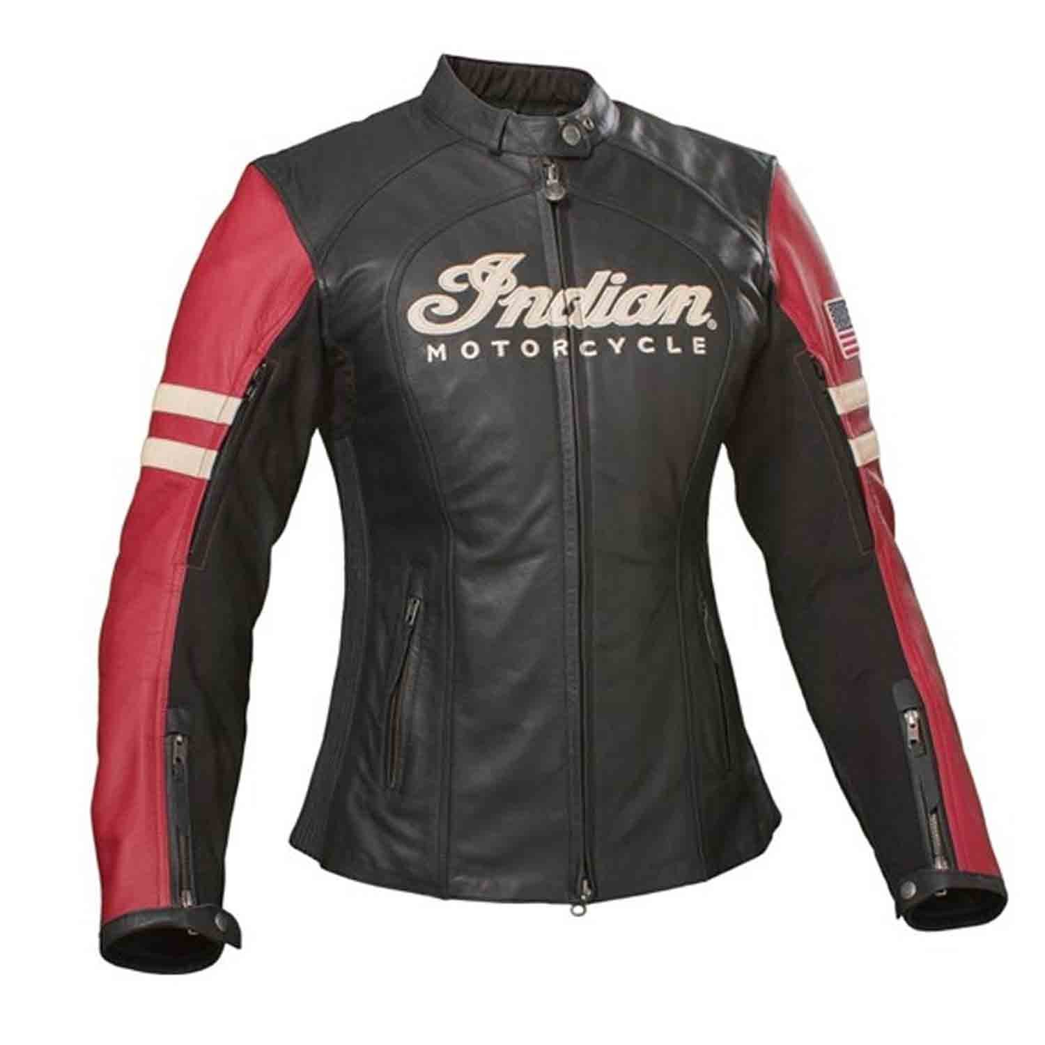 Indian Motorcycle New OEM Women's Leather Racer Riding Jacket, 3W, 286362619