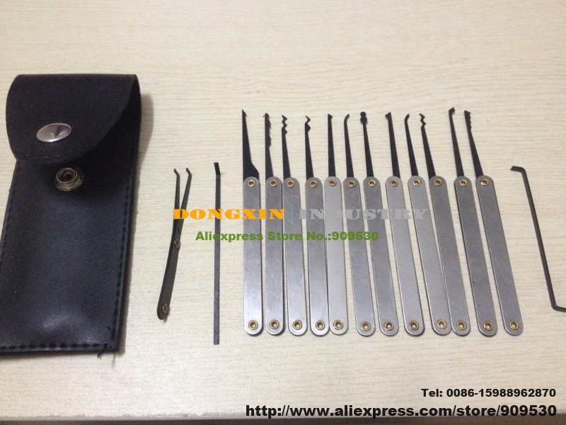 GOSO Hook Pick Set lock picks 12Piece .LOCKSMITH TOOLS lock pick gun.door lock opener padlock tool cross pick bump key