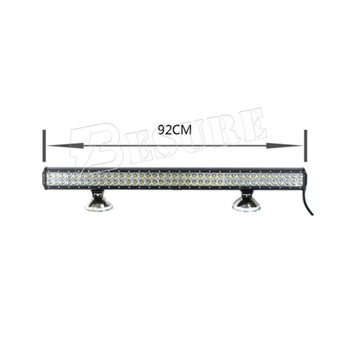 25.6'' 28'' 34.7'' 36'' 39'' 42.8'' LED Offroad Drive Light Bar Straight Double Row 144W 180W 198W 234W 252W 288W For 4x4
