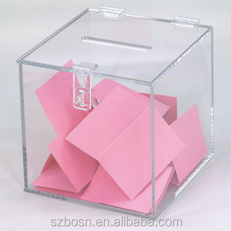 High quality Acrylic Suggestion/Registration Box, Cheap Price!