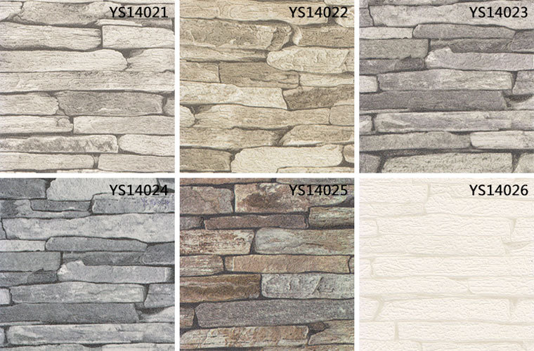 53CM Nature Sense White Vinyl 3d Wallpaper Brick Stone Design For Home Restaurant Natural Commercial
