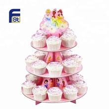 Custom Carta Riciclata Cartone Cup <span class=keywords><strong>Cake</strong></span> display <span class=keywords><strong>stand</strong></span> e Torta <span class=keywords><strong>Stand</strong></span> <span class=keywords><strong>Pop</strong></span> Con Multi-livelli