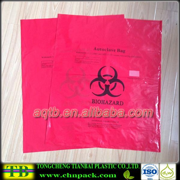 Pe Red Autoclave Medical Waste Biohazard Baghazardous Bags