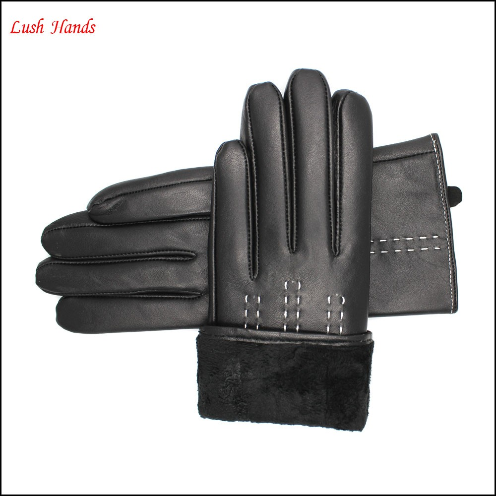 Women 's the basic classic leather gloves