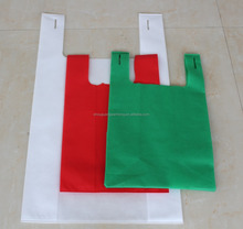 Cheap eco-friendly d cut bag/t shirt shopping bag nonwoven bag