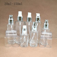 Factory supply 20ml 30ml 40ml 50ml 60ml 80ml 100ml 120ml 150ml frosted clear glass cosmetic spray bottle with atomizer