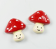 cute mini mushroom resin jewelry accessories DIY phone case accessories cheap fridge magnet accessory