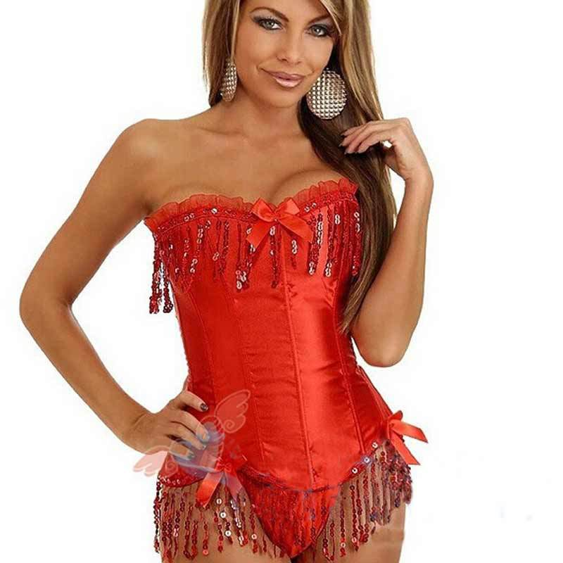1ef65d07a6 Get Quotations · 2014 Fashion Sexy Women Ladies Girls Bustiers Corsets  Chest Binder Red Black Purple Summer Weight Loss