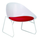 Wholesale modern plastic reception room leisure chairs with metal leg