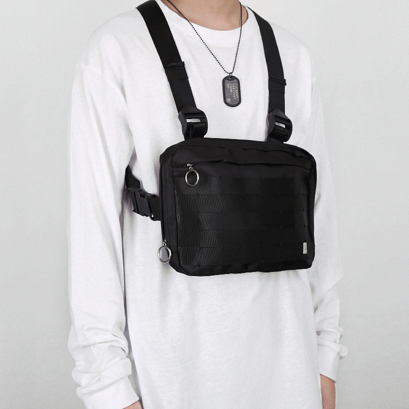도매 Custom 카니 예 웨스트 (kanye west) 군 Vest 가슴 Rig Bag, Dropshipping Custom Tactical Pouch Black 가슴 Rig