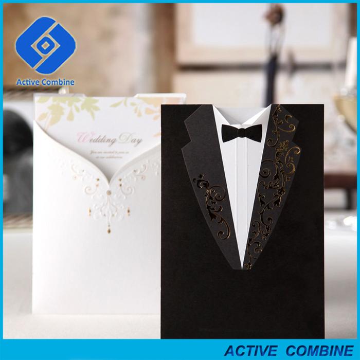 2016 Bride And Groom Pocket Fold Wedding Invitations Wholesale Prices