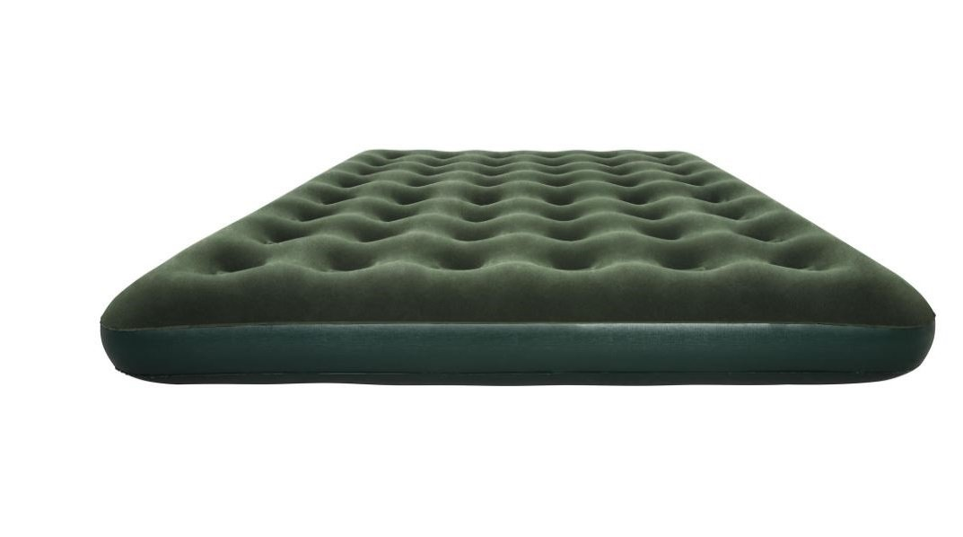Instant Inflatable Bed, Green Color, Poly-Vinyl Material, Queen-Size, Innovative, Enhanced Comfort, Handy Repair Kit, Air Pump Included, Easy Transport And Storage, Durable, Multi-purpose & E-Book.
