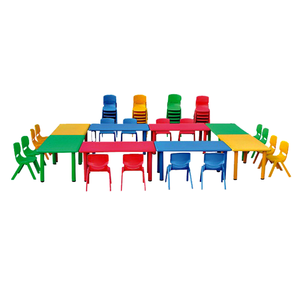The Lowest Price Cheap PE Material Kids Table and Chair Set for Nursery School