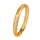 51199 Xuping 18k gold jewelry fashion women bangles and bracelets gold plated bangles
