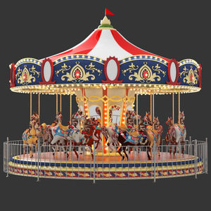 Outdoor playground equipment game used metal carousel