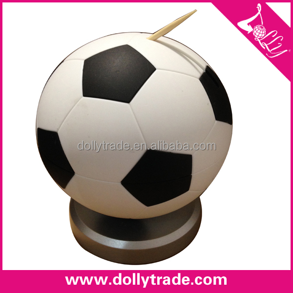 Black Toothpick Box Plastic Football Automatic Toothpick Dispenser