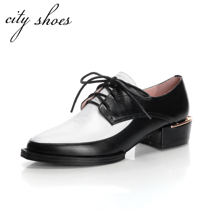 Womens Black Flat Lace Up Shoes