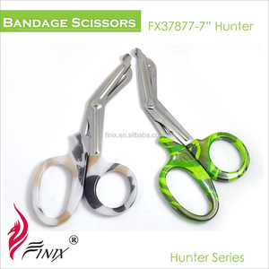 Camouflage Printing Bandage Utility Scissors and Trauma Shears
