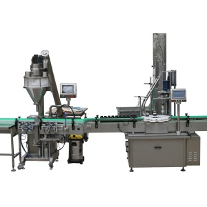 automatic single auger filler capper and labeling machine WITH GMP