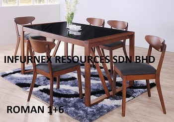 Cafe, 1+6 Dining Set, Glass Table, Cafe Chair, Dining Set