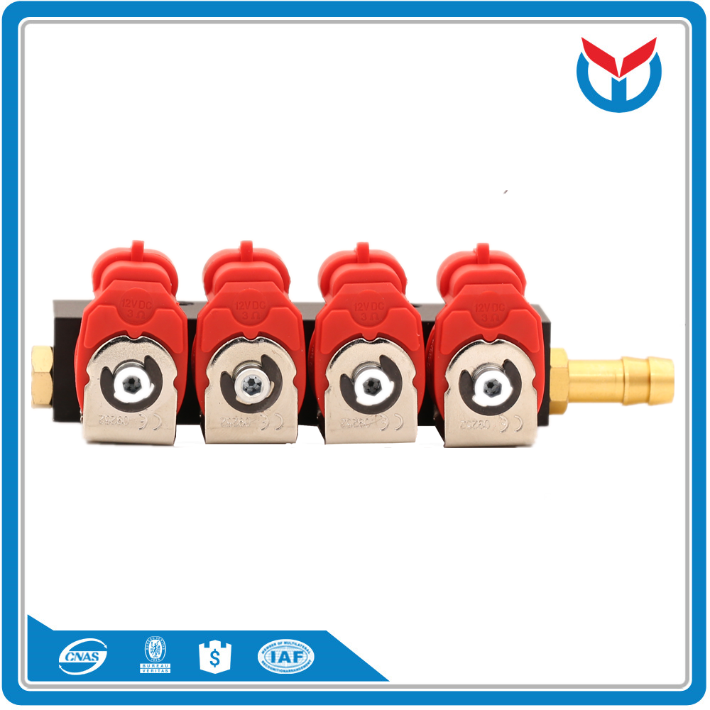 Factory supply 3cyl 6cyl injector rail for cng lpg