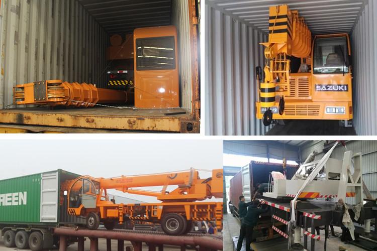8 トンのトラッククレーンとスパイラルドリル、伸縮ブームトラック積載クレーン