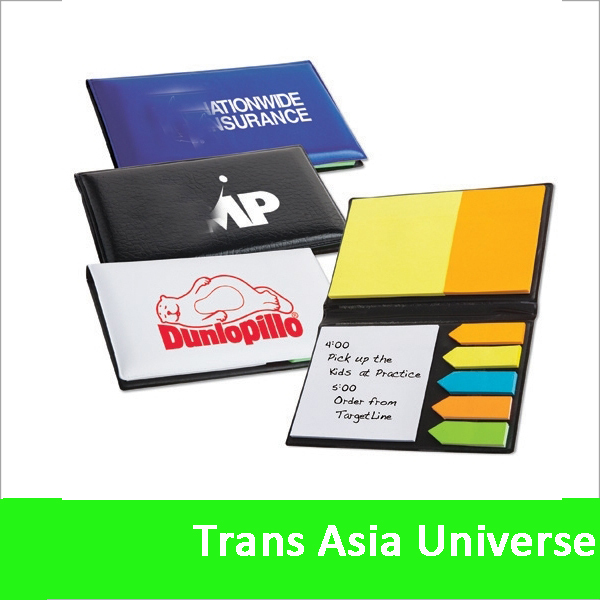 Hot Selling custom sticky note pad with hard cover
